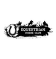equestrian sport horse racing club grunge banner vector image vector image