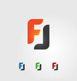 f and l logo vector image