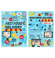 fast food burgers and snacks online delivery vector image vector image