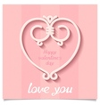 Festive Happy Valentines Day heart vector image vector image