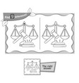 find 9 differences game justice vector image vector image