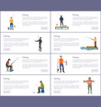 fishing hobby and sport set vector image vector image