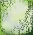 floral background leaves vector image vector image