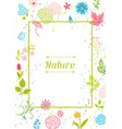 frame with spring flowers vector image