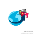 Global marketing network concept vector image vector image