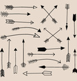 Hand Draw Arrow Collection vector image vector image