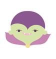 happy halloween celebration boy monster green face vector image