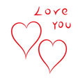 Happy Valentines Day hearts on a white background vector image vector image