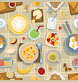 healthy eating breakfast lunch meal concept with vector image vector image