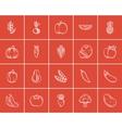 Healthy food sketch icon set vector image vector image