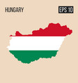 hungary map border with flag eps10 vector image