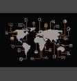 internet management map vector image
