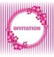 Invitation vintage card with beautiful sacura vector image