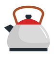 kitchen kettle isolated icon vector image vector image