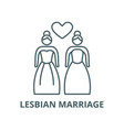 lesbian marriage line icon linear concept vector image vector image