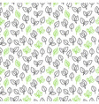line leaves seamless pattern vector image vector image
