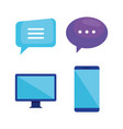 marketing seo set icons vector image vector image