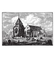 minster church isle of sheppey vintage vector image vector image