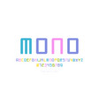 monospaced sans serif font in cyber style vector image vector image