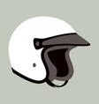 Motorcycle helmet flat style