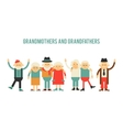 Older people in different costumes vector image vector image