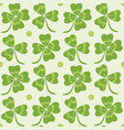 pattern with lucky clover vector image vector image