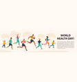 people jogging sport family fitness run training vector image