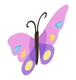 Pink violet butterfly icon isometric 3d style vector image