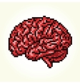 Pixel art brain isolated vector image vector image