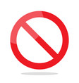 prohibition no symbol vector image vector image