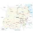 republic sudan road map vector image vector image