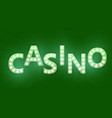 retro sign with lamp casino banner vector image