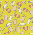 seamless pattern with colorful bread vector image