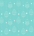 seamless pattern with white contour eggs vector image vector image