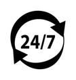 service online help concept line icon vector image