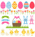 set elements for easter design vector image vector image