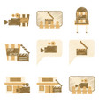 set of flat icons in shading style cinema vector image vector image