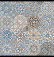 set of octagonal and square patterns vector image