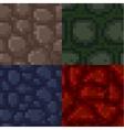 Set of pixel stone textures vector image vector image