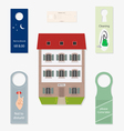 Set of subjects for hotel business vector image