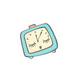 sleeping doodle alarm clock with closed eyes vector image