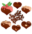 sweet heart set 380 vector image vector image