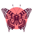 tattoo butterfly symbol of immortal soul sketch vector image