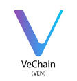 vechain cryptocurrency symbol vector image vector image
