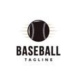 vintage baseball logo with ball icon vector image vector image
