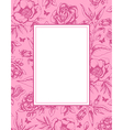 Vintage pink background with frame and flowers