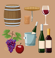 winery elements and icons vector image