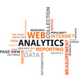 word cloud web analytics vector image vector image