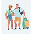 young loving couple traveling vector image vector image