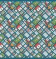 atm machine receipt pattern vector image